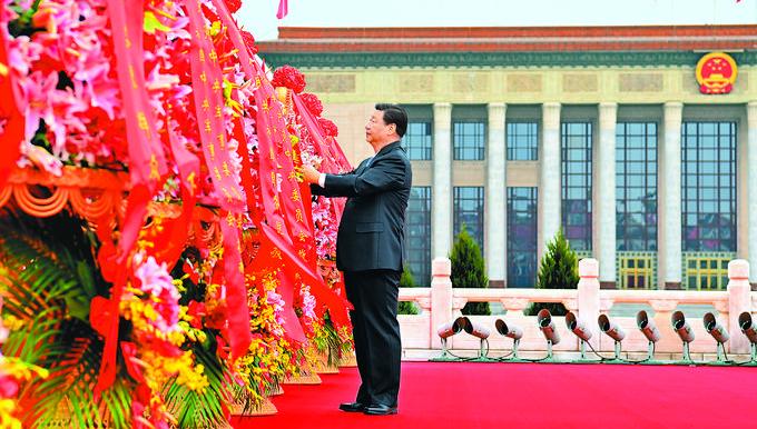 烈士纪念日向人民英雄敬献花篮仪式在京...